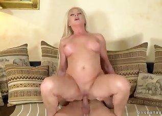 Seduced blonde wants to suck his boner