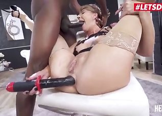 Big black cock for a lusty Russian MILF