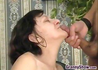 Stunning busty brunette jumps on a huge dick