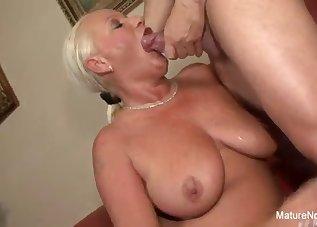 Beautiful blonde is enjoying his hard dick